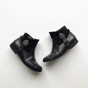 Zara leather/suede booties VGUC size 32(1 youth)